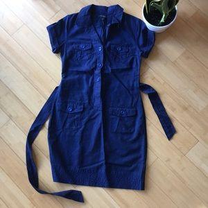 Banana republic navy blue shirt dress